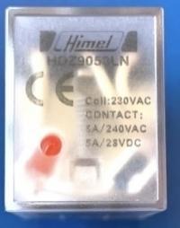 HIMEL PLUG IN RELAY 11 PIN 24VAC 5A 3C/O WITH LED HDZ9053LBR