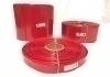 POWERMAT PVC HEAT SHRINKABLE SLEEVE  Thickness 0.17mm , 25mm RED
