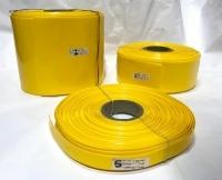 POWERMAT PVC HEAT SHRINKABLE SLEEVE, Thickness 0.17mm , 73mm YELLOW, PMTHS-10073Y