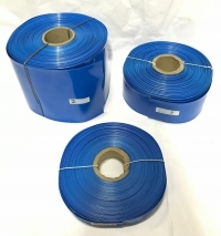 POWERMAT PVC HEAT SHRINKABLE SLEEVE  Thickness 0.17mm , 20mm BLUE