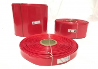 POWERMAT PVC HEAT SHRINKABLE SLEEVE  Thickness 0.17mm , 20mm RED